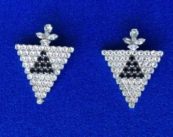 1980s diamanté earrings