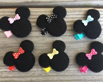 Minnie Mouse Hair Clips / Minnie Mouse Bow