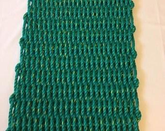 Large Hand Woven Green Door Mat 20 X 36