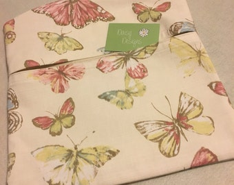 Flutterby Butterfly Peg Bag, Laundry Bag, Washing Line Hanging Bag, Cotton Peg Bag, Cleaning Supplies, Clothespin Bag, Handmade Accessories