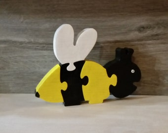 wooden bee puzzle