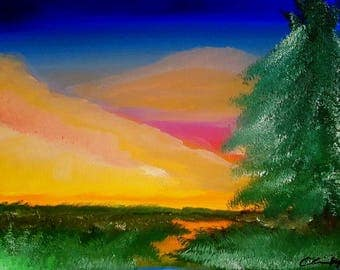 "Oil painting landscape print 8.5""x11"" -Storm's End-"