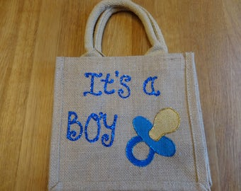 It's a Boy Jute Bag