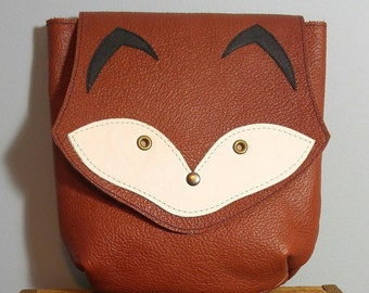 Foxy Crossbody Purse Handbag, Leather Purse, Made to Order