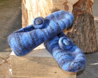 Felt shoes in blue tones Gr. 39/40