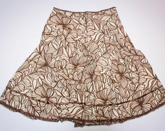 Flared skirt floral size 40/42