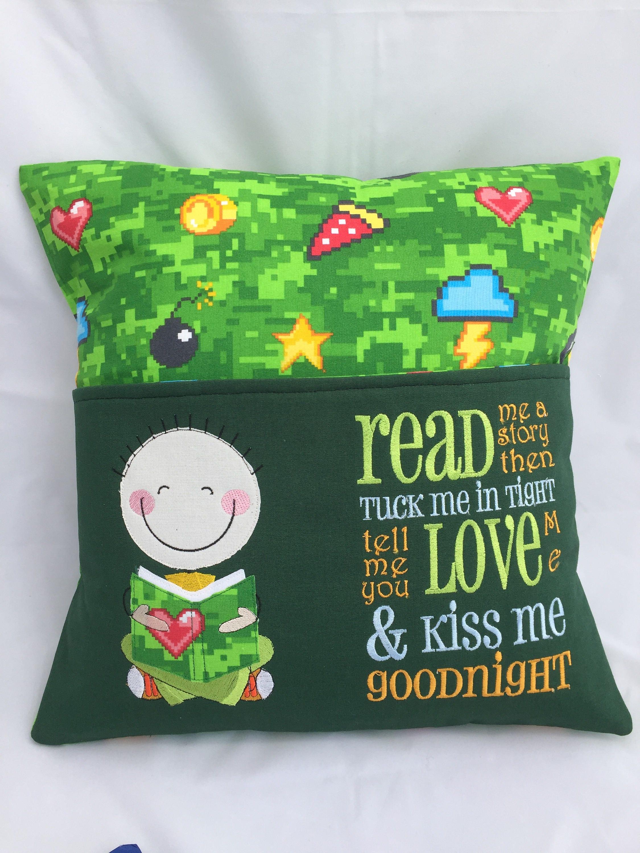 pillow reading pillow book pocket boys reading pocket