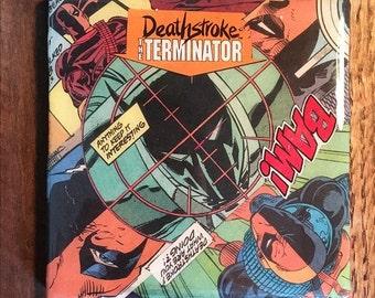 Deathstroke Comic Drink Coaster