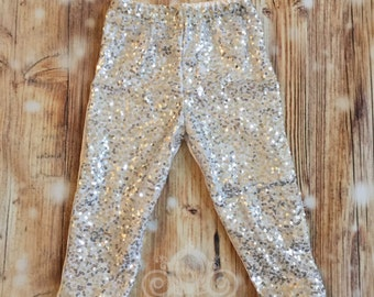 Silver Sequin Pant