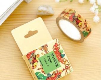 Washi Tape, Masking Tape, tape adhesive scrapbooking Butterfly FRUIT