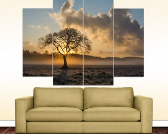 Mist tree canvas picture