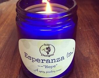 "8 oz Esperanza ""Hope"" Candle"