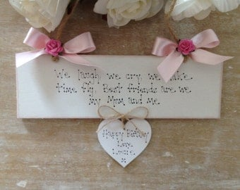 Personalised Mothers Day Gift Birthday Gift Sign Auntie, Sister, Grandma, Nanna. Nan, Best Friend