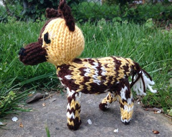 Knitted African Painted Dog