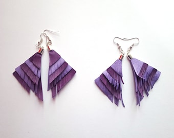 Synthetic leather earrings