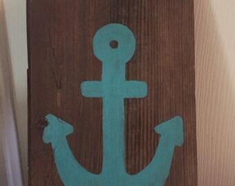 Barnwood and Anchor Key Holder