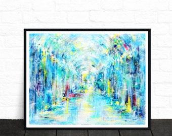 Abstract art print, colourful wall art, modern art, wall art, illustartion, fine art prints, contemporary art, abstract painting, art prints