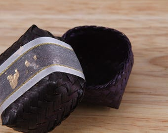 Ring Box, Basket, Made from Bamboo, Thai handicraft, beautiful wicker, Gift for her,Natural product, Storage for jewelry
