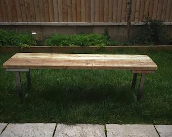 scaffold board bench / with industrial steel legs