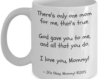Mother's Day | Birthday Gift for Mom from Child | I Love You Mommy 11oz Coffee Mug | Best Gifts From Child...Mugs! | Mothers Day, Christmas