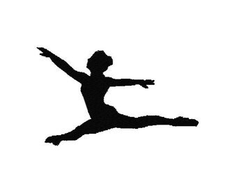 Dancer Machine Embroidery Design, 2 sizes, Silhouette, ballet embroidery, dance bag embroidery, dance embroidery, gymnastics, 4x4, 5x7