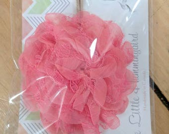 Beautiful Fabric Flower on a Nylon Headband