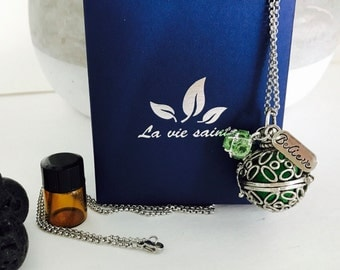 Unique essential oil necklace with chain. Perfect gift for any occassion.