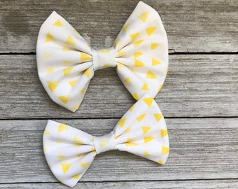 Summer yellow bow| bow tie