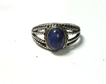 Size 6.5 Lapis Lazuli Sterling Silver Ring