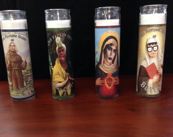 Alterna-saints pillar candles