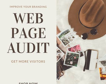 Webpage Audit, website review, seo optimization, seo help, website branding, web design, branding, marketing, wordpress, squarespace, wix