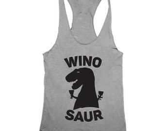 Wino-Saur Women's Tri-blend Racerback Tank