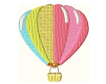Hot Air Balloon Embroidery Design, Baby Embroidery Designs, Kids Embroidery Designs,Balloon Embroidery Designs,Filled Stitch,Girl Embroidery