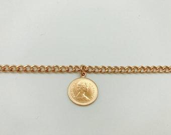 1983 Canadian 10 Cents Coin Bracelet
