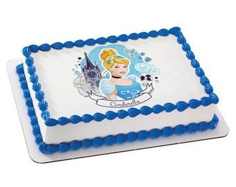 Disney Princess Cinderella Full of Dreams Edible Cake Topper