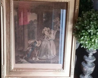 Victorian lithograph Engraving illustration Print 1800s