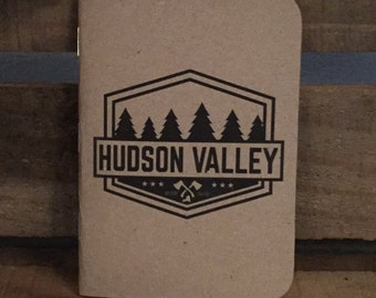 3 Pack Hudson Valley Badge Kraft Pocket Notebook Journal 3.5x5