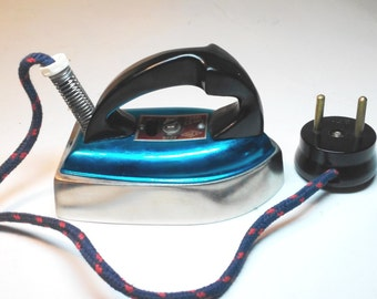 1969 Soviet Vintage Travel Iron in the original packaging Small Iron & Metal Tray  Vintage Home Appliances USSR