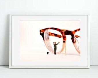 Glasses Cleaner- Window Cleaner - Miniature Figure Art