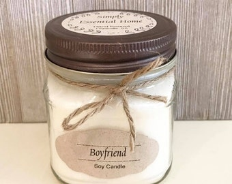 Boyfriend Candle / Soy Wax Candle / Aromatherapy Candle