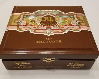 Wooden Cigar Box, My Father Cigars, Garcia & Garcia, The Judge