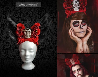 "Headdress ""Underworld"" head dress Halloween"