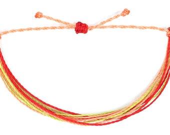 string bracelet, spring multi strand bracelet, surf bracelet, friendship bracelet, adjustable bracelet, stacking bracelet, gifts for teens