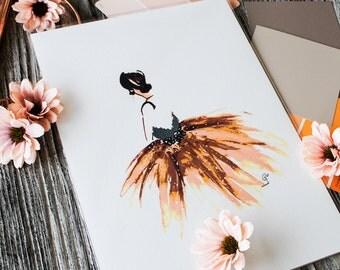 Fashion Illustration Art A4 Print- GiGi- THE DRESS