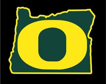 Oregon Ducks Decal   University of Oregon Decal   UO Decal   Go Ducks