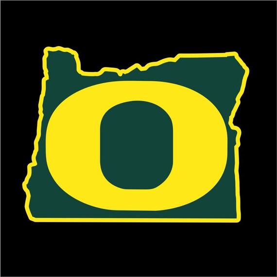Oregon Ducks Decal University Of Oregon Decal UO Decal