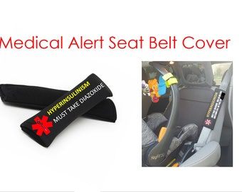 Medical Alert Seatbelt Cover