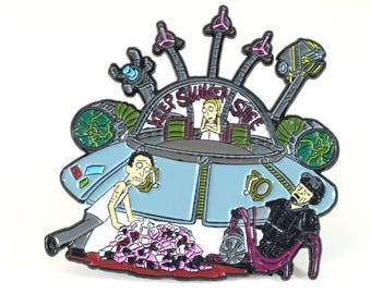 Keep Summer Safe, Rick and Morty pin, hat pin, lapel pin,