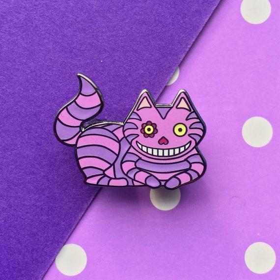Cute Alice in Wonderland Cheshire Cat Enamel Pin