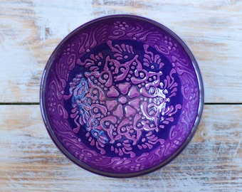 Bowl, colorful bowl, bright bowl, gift idea, decorative bowl, ceramic bowl, purple bowl, handmade bowl, pottery, pottery bowl, small bowl